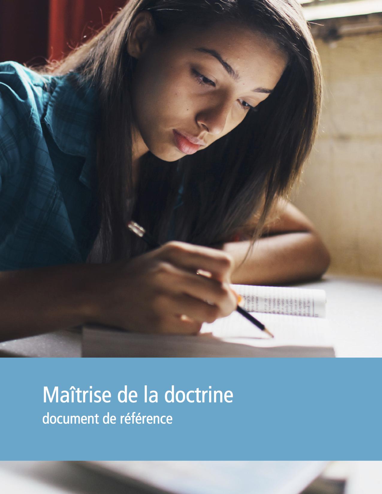 Maîtrise de la doctrine, couverture du document de référence