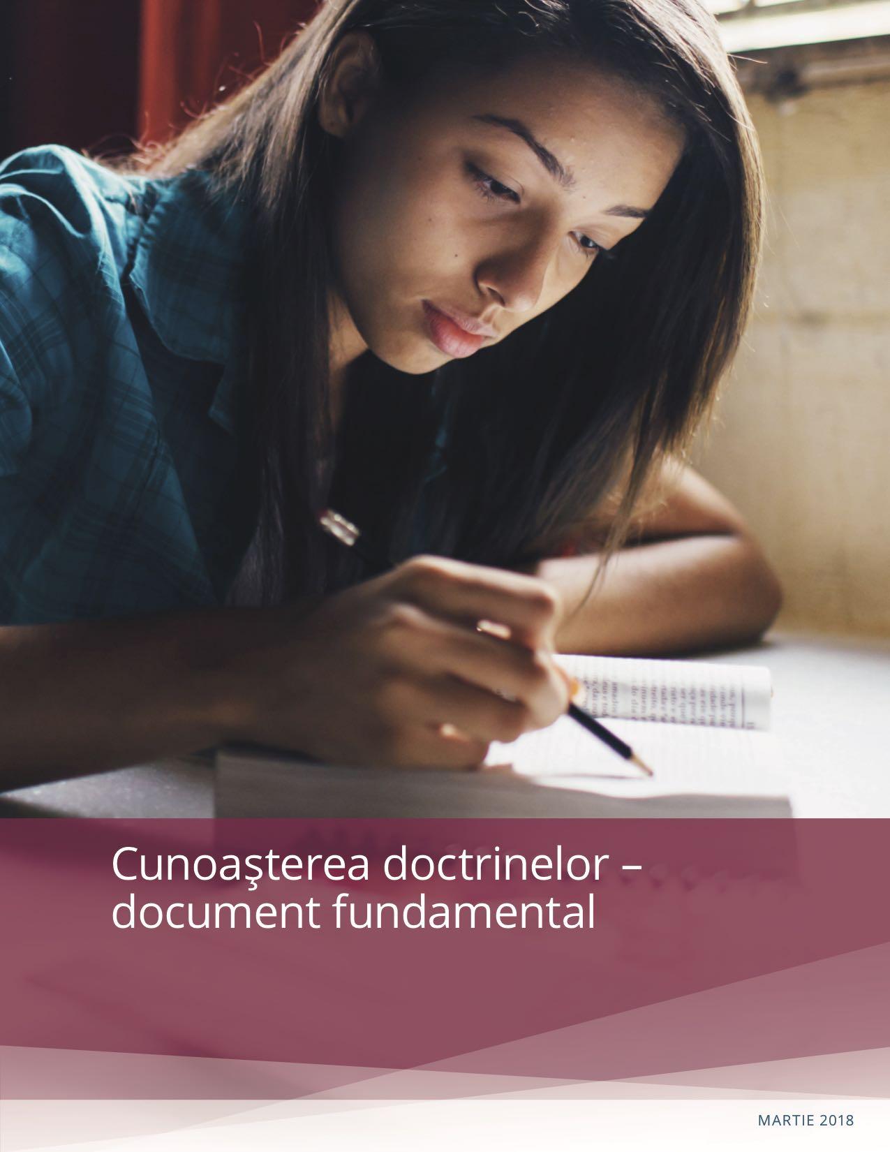 Copertă a manualului Cunoaşterea doctrinelor – document fundamental