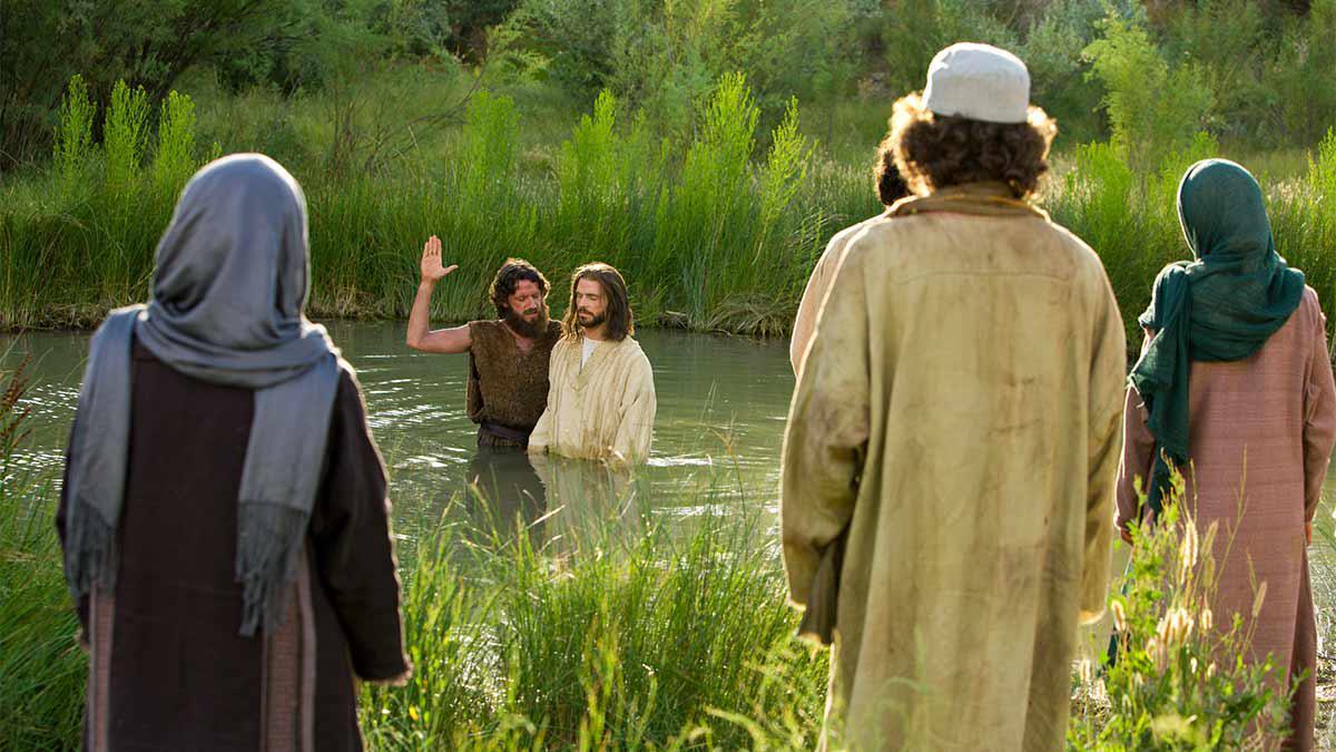예수님을 침례주고 있는 침례요한