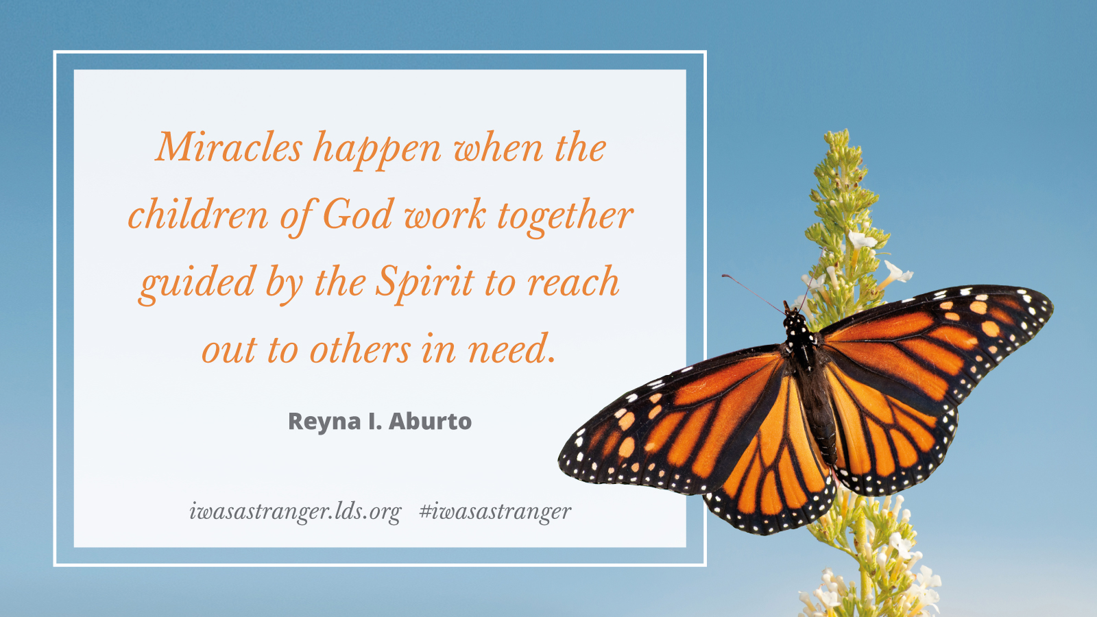 Miracles happen when children of God work together guided by the Spirit to reach out to others in need. Sister Reyna I. Aburto.