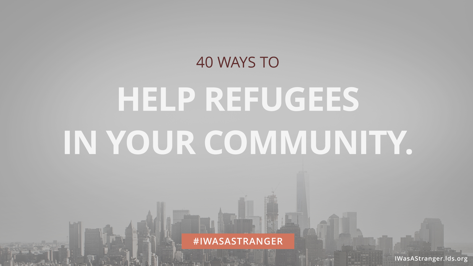 40 Ways to Help Refugees in Your Community.